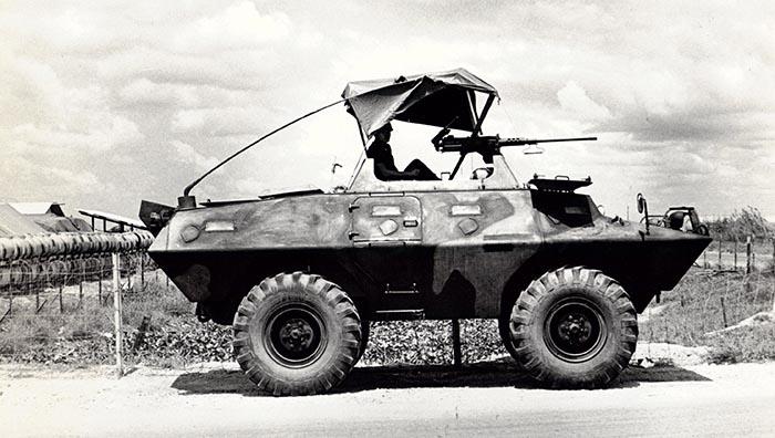 4. Binh Thuy AB, SPS LAV 100, Main Gate. 1970-1971.