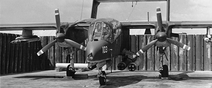 8. Binh Thuy AB, flight line: U.S. Navy OV-10. 1970-1971.