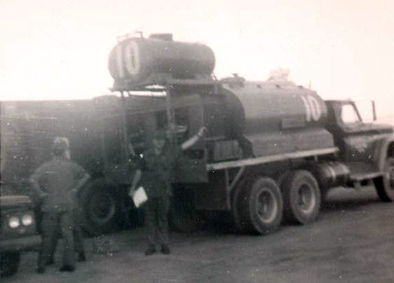 7. We modified a water tanker truck so it could foam the runway.