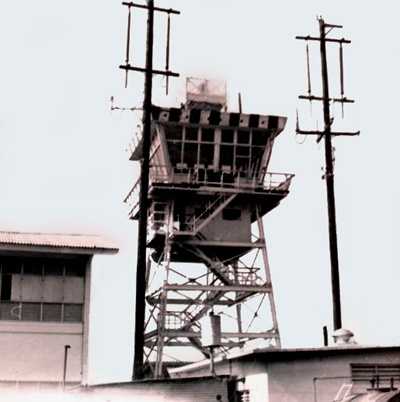 7. Binh Thuy AB: Control Tower. 1968-1969. Photo by: Terry Sasek, BT, 632nd CSG (Fire-Truck Repairman), AUG DET 632nd SPS, 1968-1969.