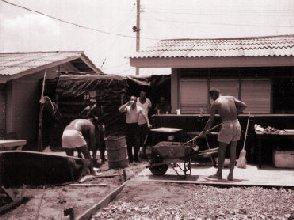 5: NCOs building a patio