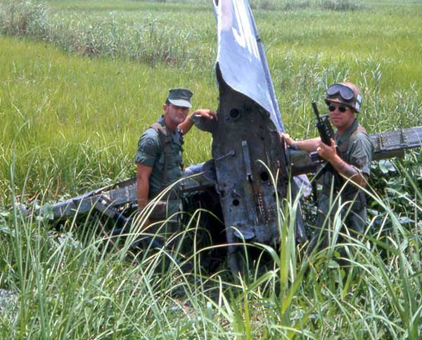 2. Binh Thuy AB: Aircraft tail. 1968. Photo by: David Summerfiled, LM 186 (RIP), TSN, 377th SPS; VT (TDY); BT, 632nd SPS. 1967-1968.