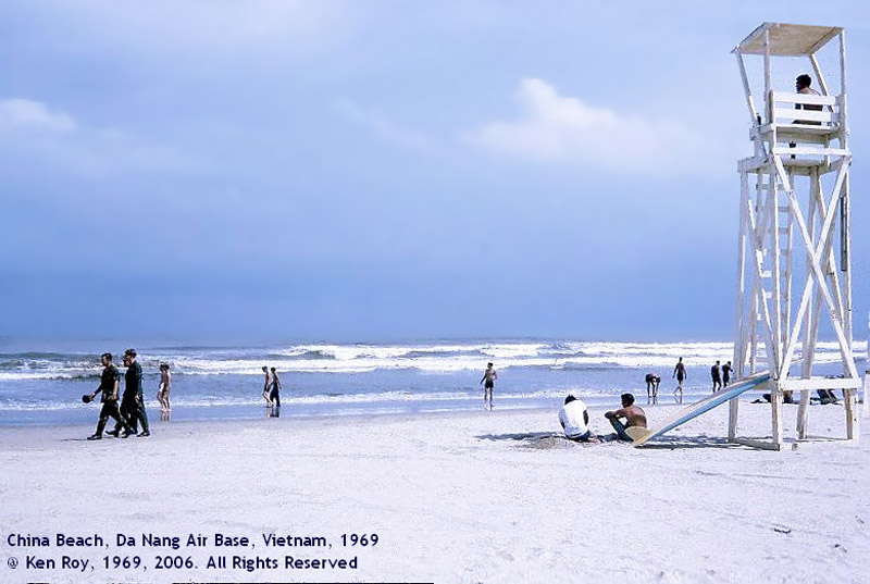 1. Da Nang AB, China Beach, Lifeguard Tower (and you were expecting a different tower?).Photo by: Ken Roy. 1969.