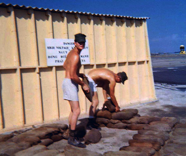 Camp Carroll, USAF  Radar/Transmitter Radio Tower. Sandbags: Stack'em...