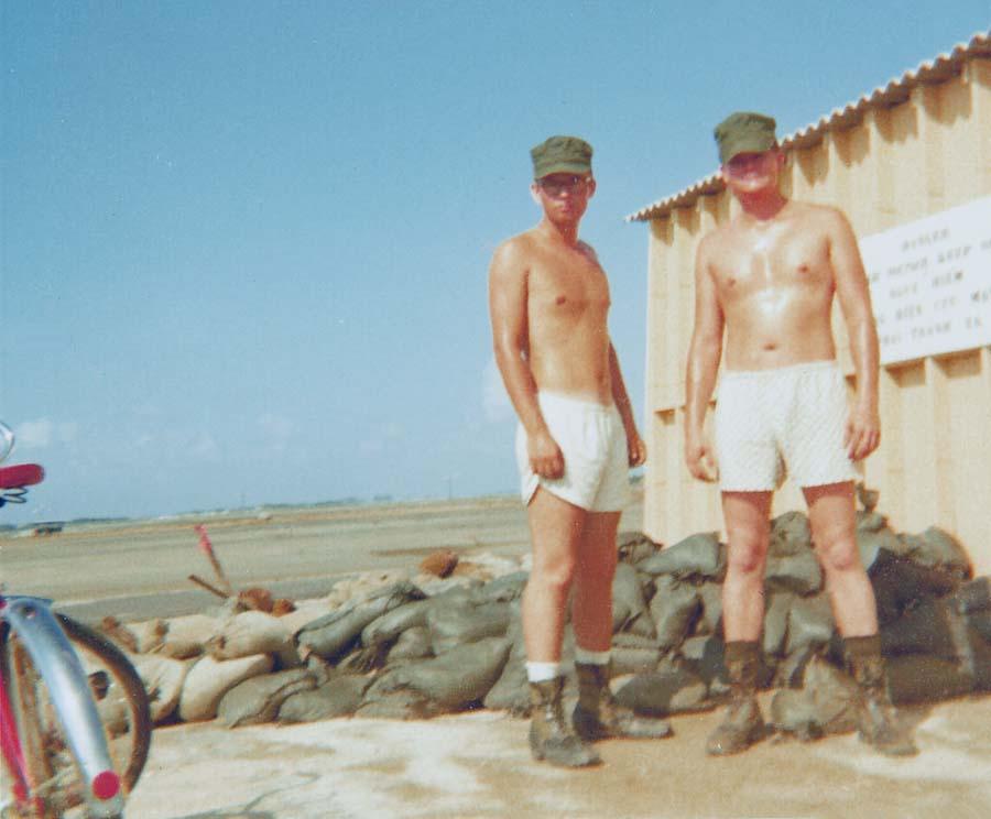 Camp Carroll, USAF  Radar/Transmitter Radio Tower. Sandbags: Fill'em...