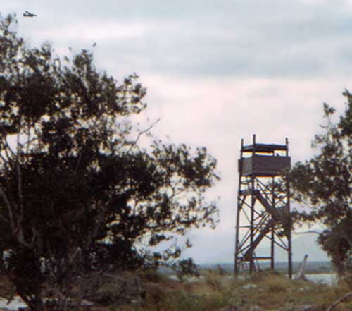 3b. Cam Ranh Bay AB. Close up, 12th SPS Tower, area of My CA Village. 1968-1969. Photo by: Bill Hawn.