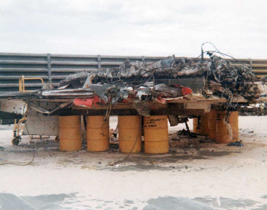 Cam Ranh Bay AB: F-4 Phantom wreckage.