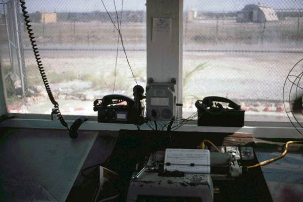 13. Cam Ranh Bay AB. Gate Tower view. 1970. Photo by: Jim Randall, LM 69, CRB, 483rd SPS, 1970.