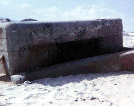 17. Cam Ranh Bay AB. US NAVY Tower, damaged from Rocket hit, 1970. Sailor Tower Guard was KIA. Jim Randall is posting a memorial page, having discovered the name of the sailor. Photo by: Jim Randall, LM 69, CRB, 483rd SPS, 1970.
