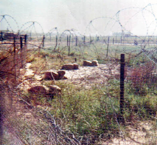2. Đông Hà Air Base, Perimeter concertina wire and minefield.
