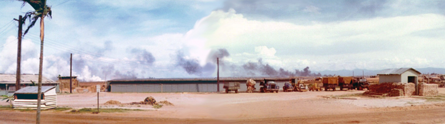 1. Đông Hà Air Field: Bombs began to cook off sparadical.
