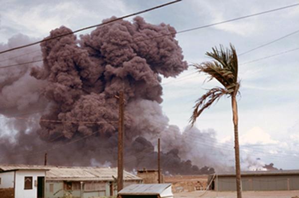 Đông Hà Air Field: Bomb Dump Explosions: Photos by Dr. Mel