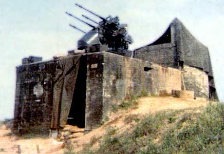 4. Close Ups - Đông Hà Air Field: Perimeter Quad.50 Bunker (right: close up). Photo by: Terry Sandman, LM 39, DN, 366th SPS; DET DH, 1/366th SPS, 1966-1967.