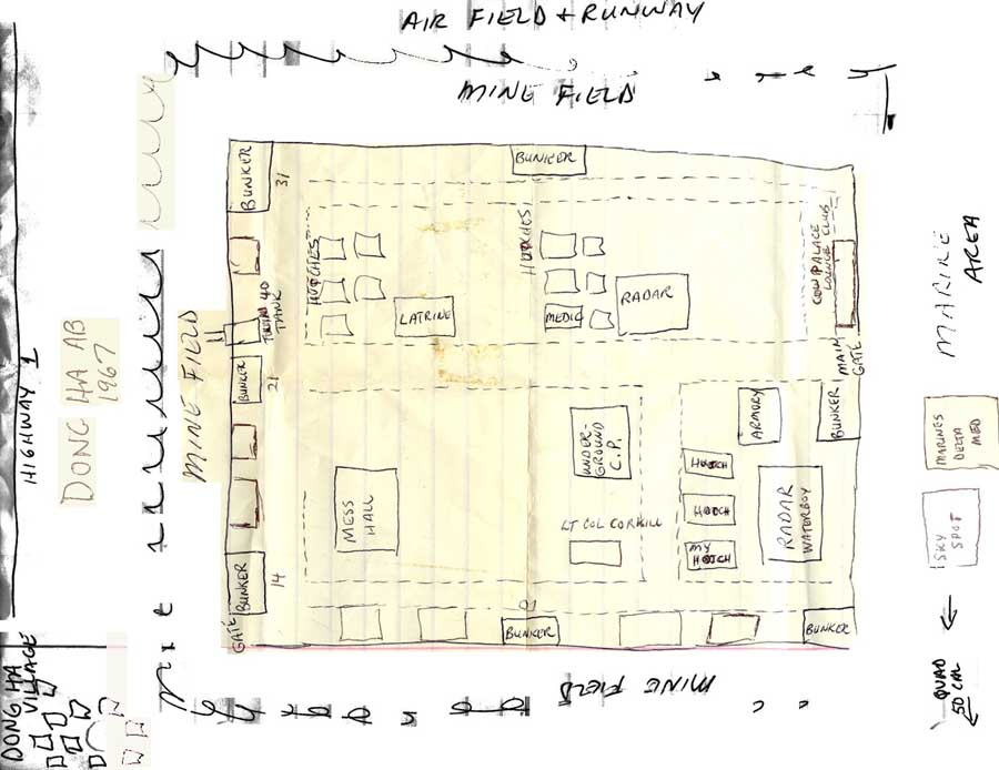 DONG HA AIR BASE - 1967: map