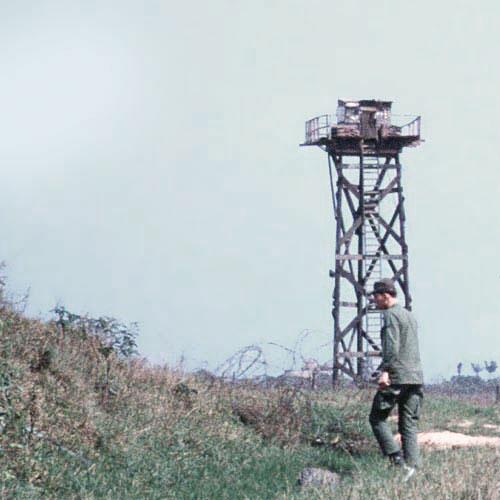 3. Đông Hà Air Field: Close Up, Perimeter and setting Mines. Photo by: Dr. Mel Hecker, LM 72, DN, 366th SPS; DET CB; DH, 1/620th TCS; BT, 632nd SPS. 1967-1969.