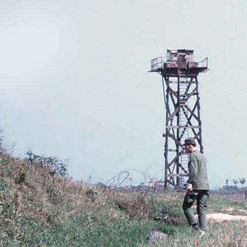 4. Đông Hà Air Field: Bunker-14 night view of perimeter (composite view). Photo by: Frank Lewicki, DET DH, 1/366th SPS, 1967-1968.