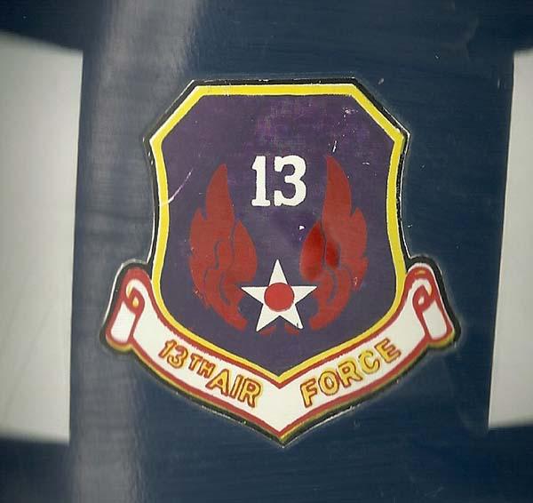 6. SP Helmet, 13th Air Force.