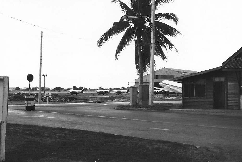 3. Don Muang Air Base, flight line road, Thailand.