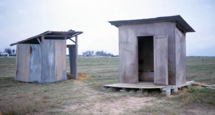6.These are the 2 latrines adjacent to the site and behind the alert trailer.