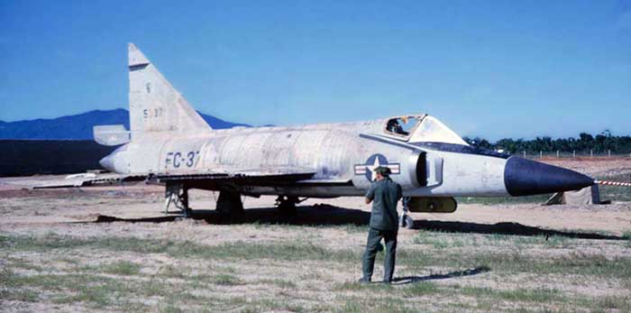 9. The F102 with destroyed cockpit.is the same one of me standing by the wing.