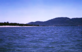 China Beach, Da Nang, Vietnam. In places you could walk out 100 yards and only be waist deep in the 80 degrees water.