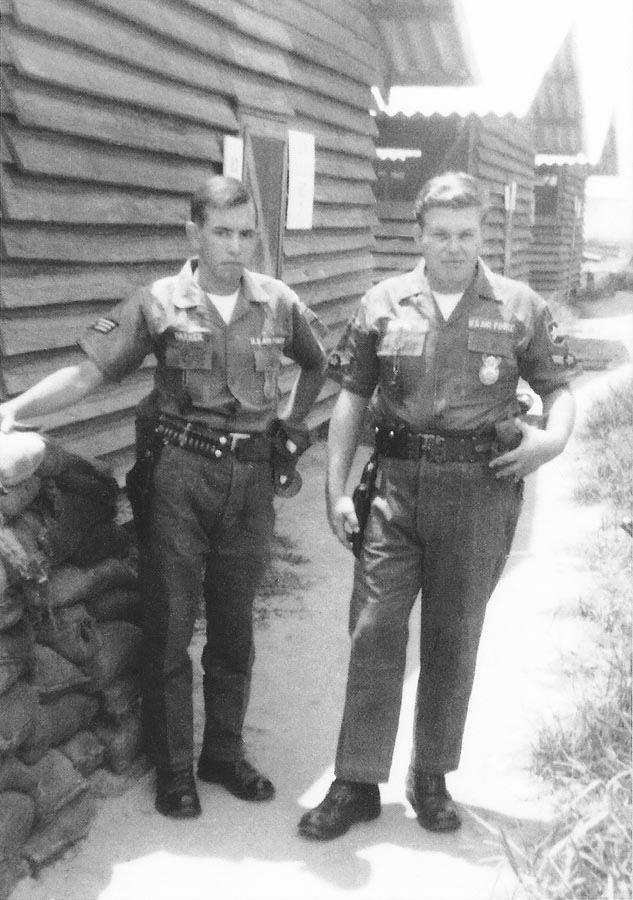 13. Da Nang AB: L/R A1C Darrell Parker and Richard Suggs
