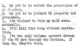 Da Nang AB, 35th SPS: Kill Viet Cong card.