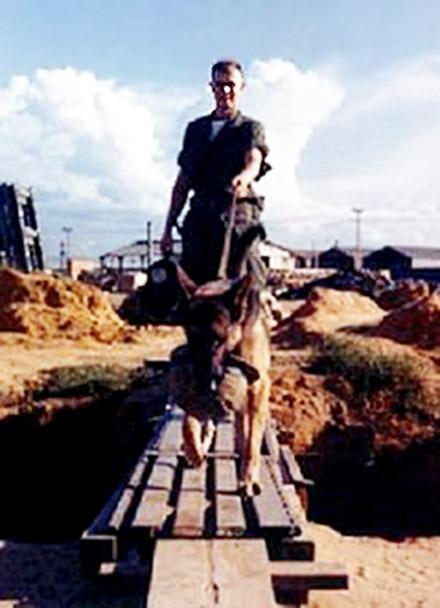 1. Da Nang AB: 366th SPS K-9 handler Greg Dunlap and