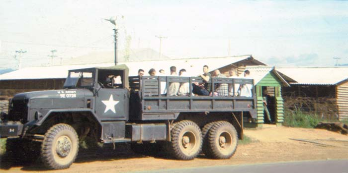 5. Da Nang AB, Gun Fighters' Compound Gate. 1966. Photo by: Lee Miller, DN, 23rd ABG/APS; 6252nd APS; 35th APS; 366th SPS K9.