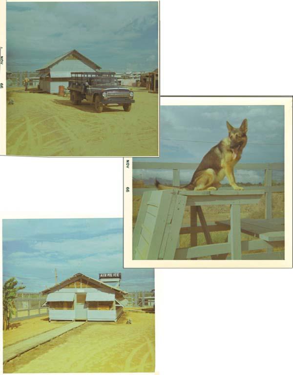 11. Da Nang AB, 35th ASP K-9 Kennels. 1965-1966. Photo by: Lee Miller, DN, 23rd ABG/APS; 6252nd APS; 35th APS; 366th SPS K9.