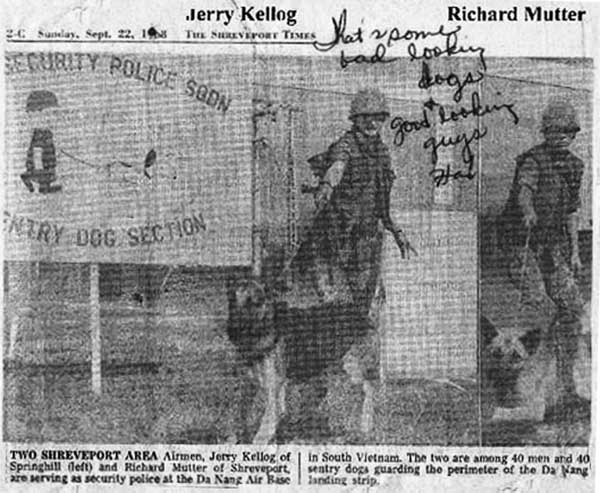 2. Da Nang AB: News Article, 22 Sep 1968. Photo by James W. Gifford Jr., 1968-1969.