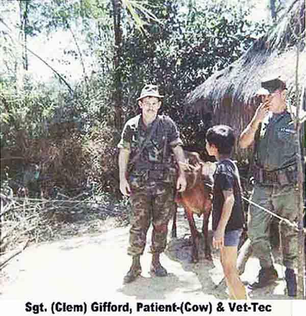 5. Da Nang AB: 366th SPS. Village Vet Check. Photo by James W. Gifford Jr., 1968-1969.