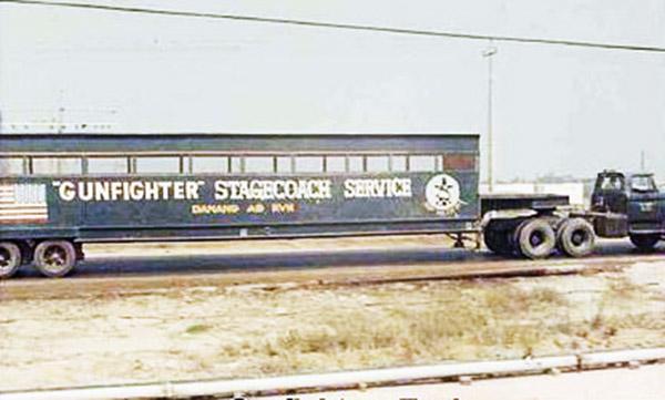 7. Da Nang AB: 366th SPS Gunfighter Stagecoach Servcie. Photo by James W. Gifford Jr., 1968-1969.