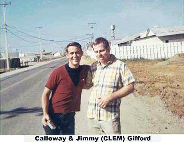 9. Da Nang AB: 366th SPS, Calloway and Jimmy Gifford. Photo by James W. Gifford Jr., 1968-1969.