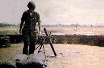 [1] Russ Harrell at the 81mm Mortar Pit at the South end Da Nang AB, RVN, 1969.