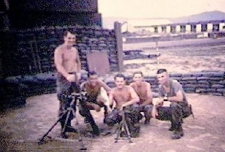 [3] Mortar Team with the 81mm tube and a captured 60mm mortar, courtesy of the 1st MP BAT, 1st USMC Div, Da Nang.