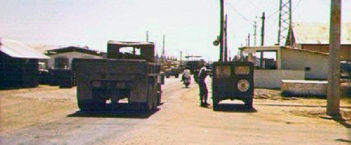 1a. Da Nang AB, Main Gate. 1969. Photos by: Russell L. Harrell (RIP LM-111, July 1, 2001), PR, 821st CSPS; DN, 366th SPS, 1968-1969.