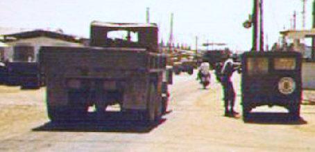 1b. Da Nang AB, Main Gate. 1969. Photos by: Russell L. Harrell (RIP LM-111, July 1, 2001), PR, 821st CSPS; DN, 366th SPS, 1968-1969.