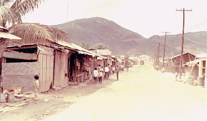 3. Da Nang AB: Dog Patch, which was the small Vietnamese Area between what was called Four-Corners and Freedom Hill 327. Photo by Vernon Hodge, 1968.