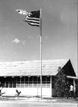 US Flag posted, Da Nang, July 4 th/Photo by: Fred Reiling, LTC, USAF (Ret)
