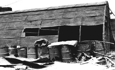 Da Nang, SP Hut and rocket damage