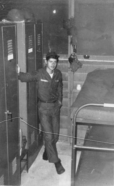 10. Da Nang AB, 366th SPS. Hooch lockers and bunks. Photo by: Ralph Manganiello Jr. 1966-1967.