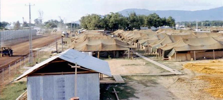 11. Da Nang AB, 366th SPS. New SP Tent City, North. Photo by: James Paul Mashburn 1966-1967.