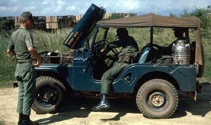21. Da Nang AB, 366th SPS. Hot C-rats heated on the jeep's engine. Photo by: James Paul Mashburn 1966-1967.