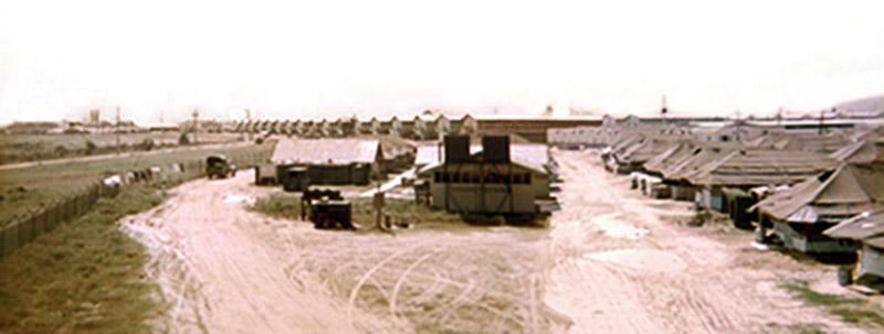 11. Da Nang AB, East perimeter and Tent City. 1968.