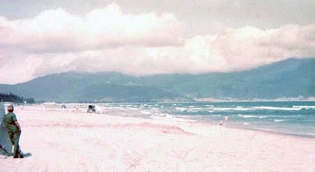 36. China Beach. Monkey Mountain in background.