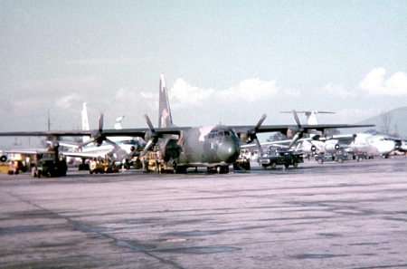 24. East flight line. C-130.
