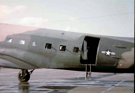 17. Da Nang AB,flight line. C-47 Spooky, starboard side.
