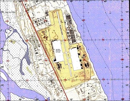 42. Da Nang AB. Map.