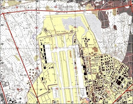 40. Da Nang AB. Map.
